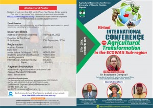 VIRTUAL AGRICULTURAL ECONOMICS CONFERENCE 2020